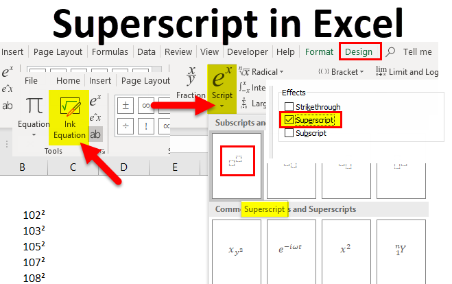 Superscript in Excel (Examples) | How to Use Superscript in