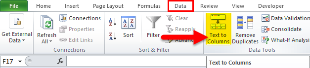 Text to Columns in excel