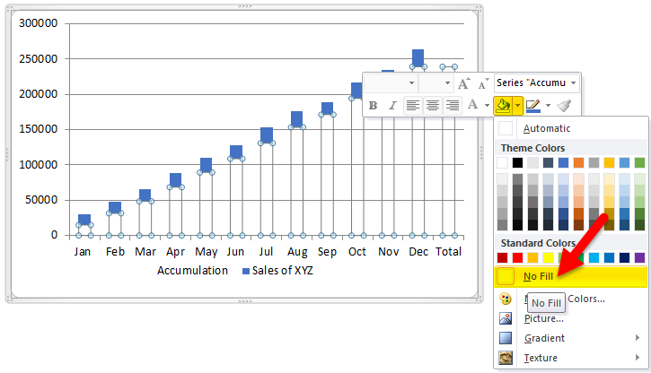Waterfall Chart Example 1-10