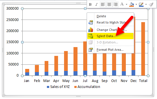 Waterfall Chart Example 1-7