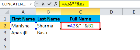 merge cells Using Ampersand 2