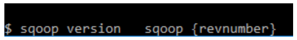 sqoop command target sqoop – version