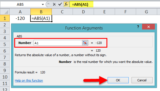 Absolute Value in Excel step 5