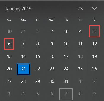 AF.calendar