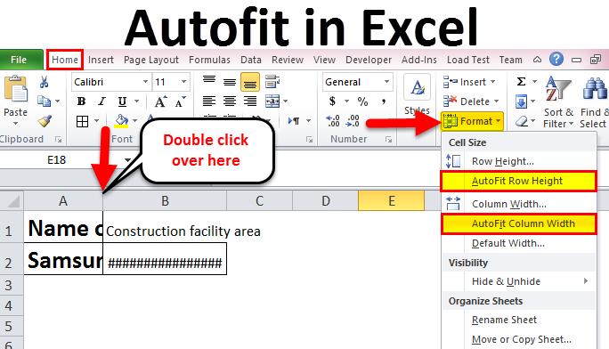 Autofit in Excel