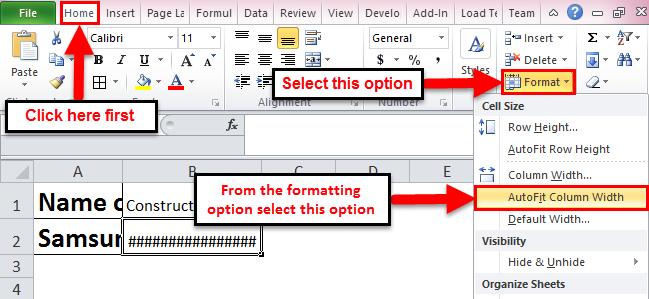 Autofit in excel step 2-1