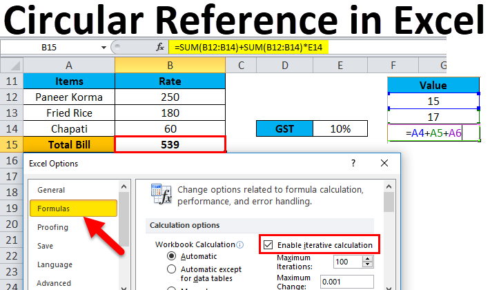 Circular-Reference-in-Excel Table Formatting Excel Examples on excel formatting issues, financial reports examples, excel sheet, excel spreadsheet, excel formatting ideas, excel datatable, powerpivot examples, hardware examples, formula examples, excel dashboard templates, excel table, excel formatting functions,
