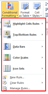 Conditional Formatting Step 2