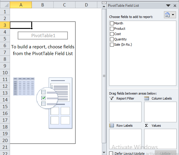 Conditional Formatting in Pivot Table Example 1-4