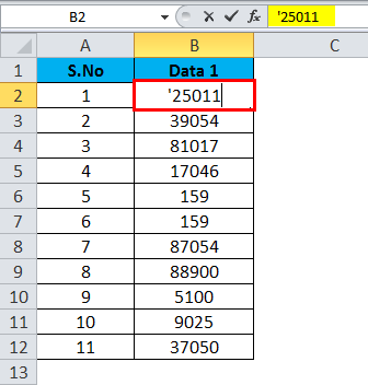 Converting Numbers to Text in Excel 1-1