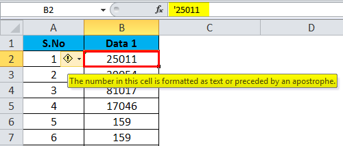 Converting Numbers to Text in Excel 1-2