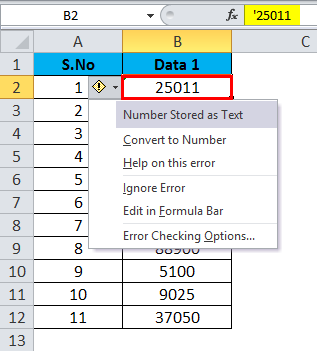 Converting Numbers to Text in Excel 1-3