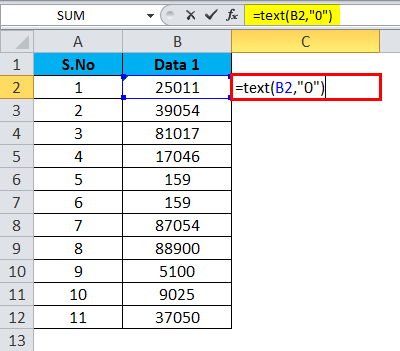 Converting Numbers to Text in Excel 2-2