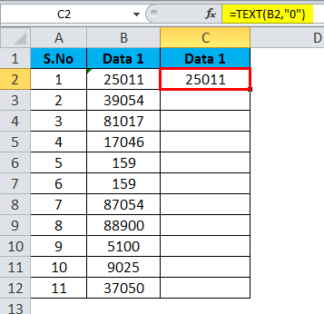 Converting Numbers to Text in Excel 2-3