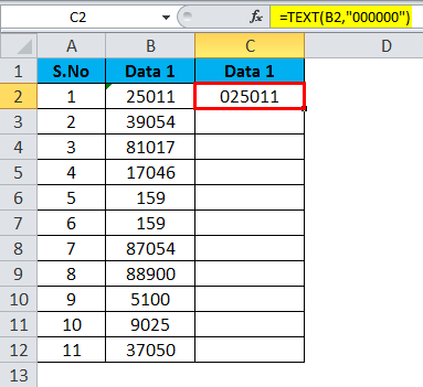 Converting Numbers to Text in Excel 2-5