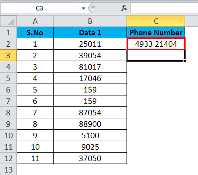 Converting Numbers to Text in Excel 3-3