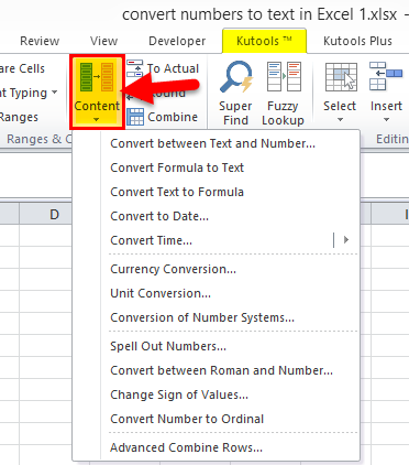 Converting Numbers to Text in Excel 3-4