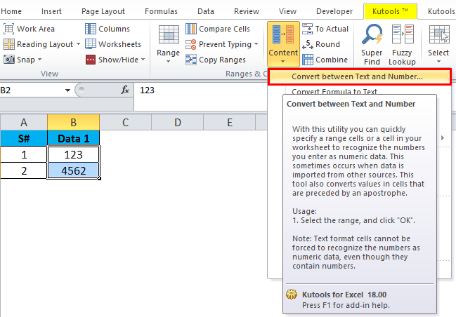 Converting Numbers to Text in Excel 3-5