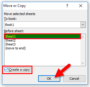 Copy Excel Sheet Method 2-2