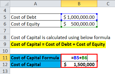 Cost of Capital Example 1-2