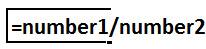 Divide Formula
