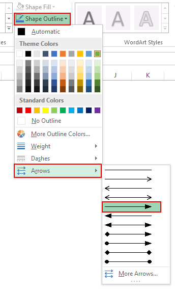 Drawing a line in excel example 4.6