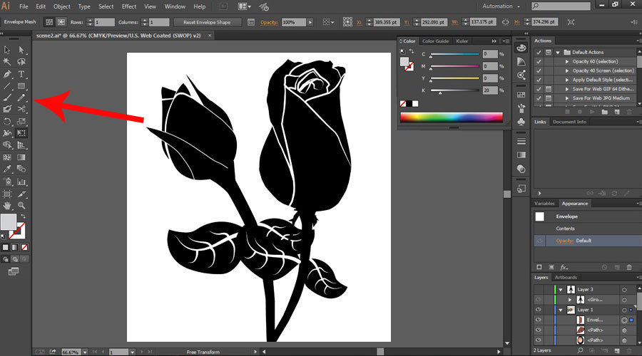 How to Use Adobe Illustrator - Skills with Pen Tool