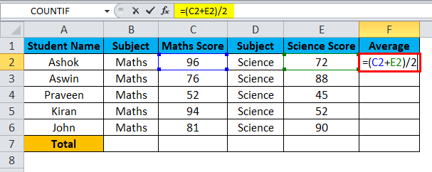 Excel Divide Example 4-3