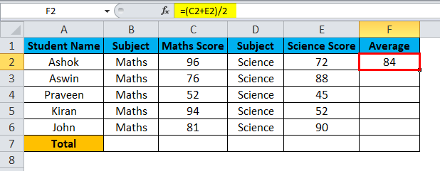 Excel Divide Example 4-4