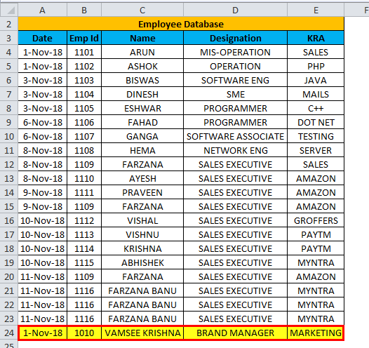 Excel Form Example 1-6