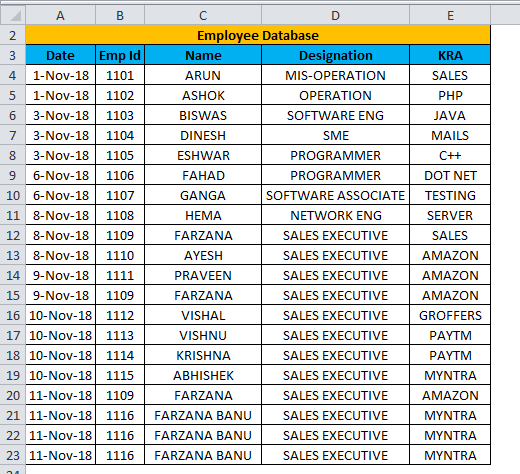 Excel Form Example 2-4