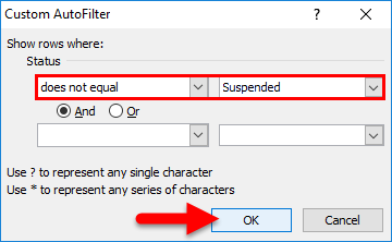 Filter Shortcuts Example 5-8