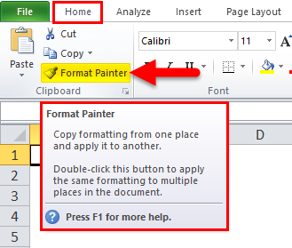 Format Painter Step