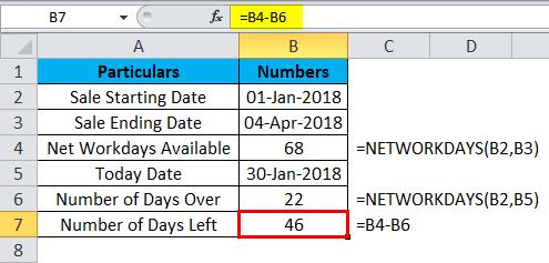 Number of Days Left