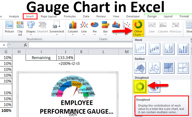 Gauge-Chart-in-Excel Table Of Contents Formatting Examples on study approach, for nutrition programs, for reports, what is, sales brag book, fiction book, microsoft word, professional portfolio,