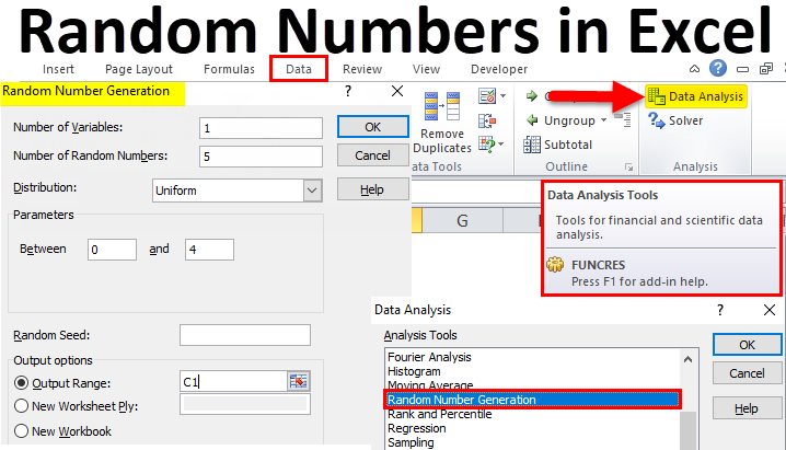 Generate Random Numbers in Excel