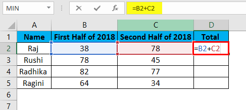 Lock Formula in Excel - Calculating the Formula