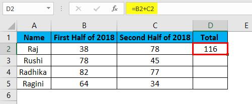 Lock Formula in Excel - Result