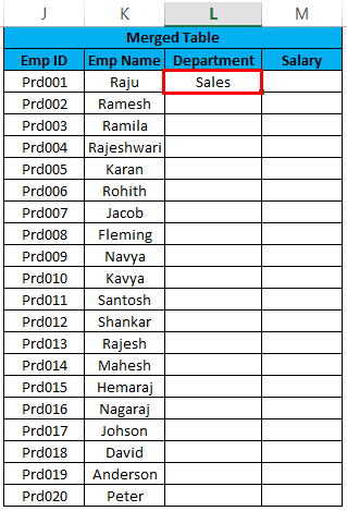Merge Two Tables in Excel index formula.4