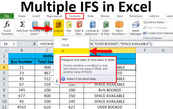 Multiple IFS in Excel
