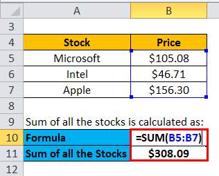 sum of all the stocks 2