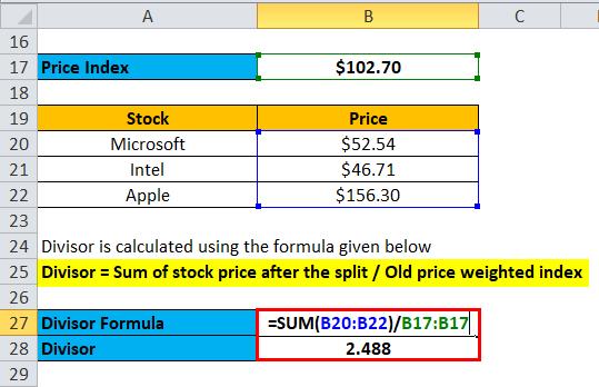 Divisor Calculation