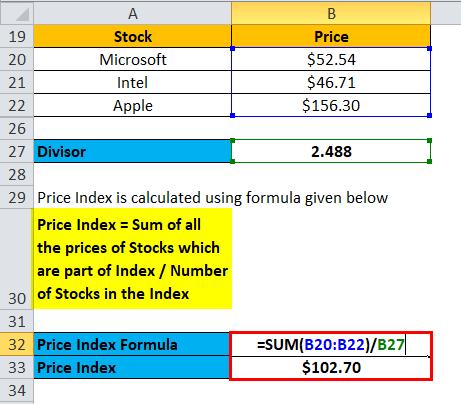 Price Index Example 3-4