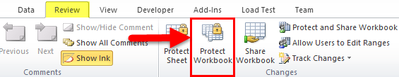 Protect Excel Workbook 1-1