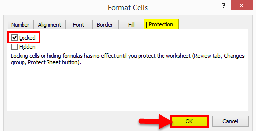 Protect Sheet Excel 1-5