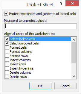 Protect Sheet Excel 2-2
