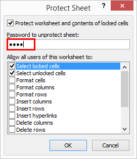 Protect Sheet Excel 2-3