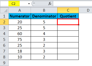 QUOTIENT Example 1-2