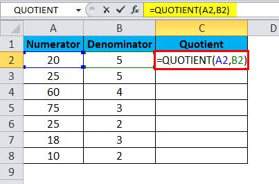 QUOTIENT Example 1-3