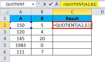 QUOTIENT Example 3-3